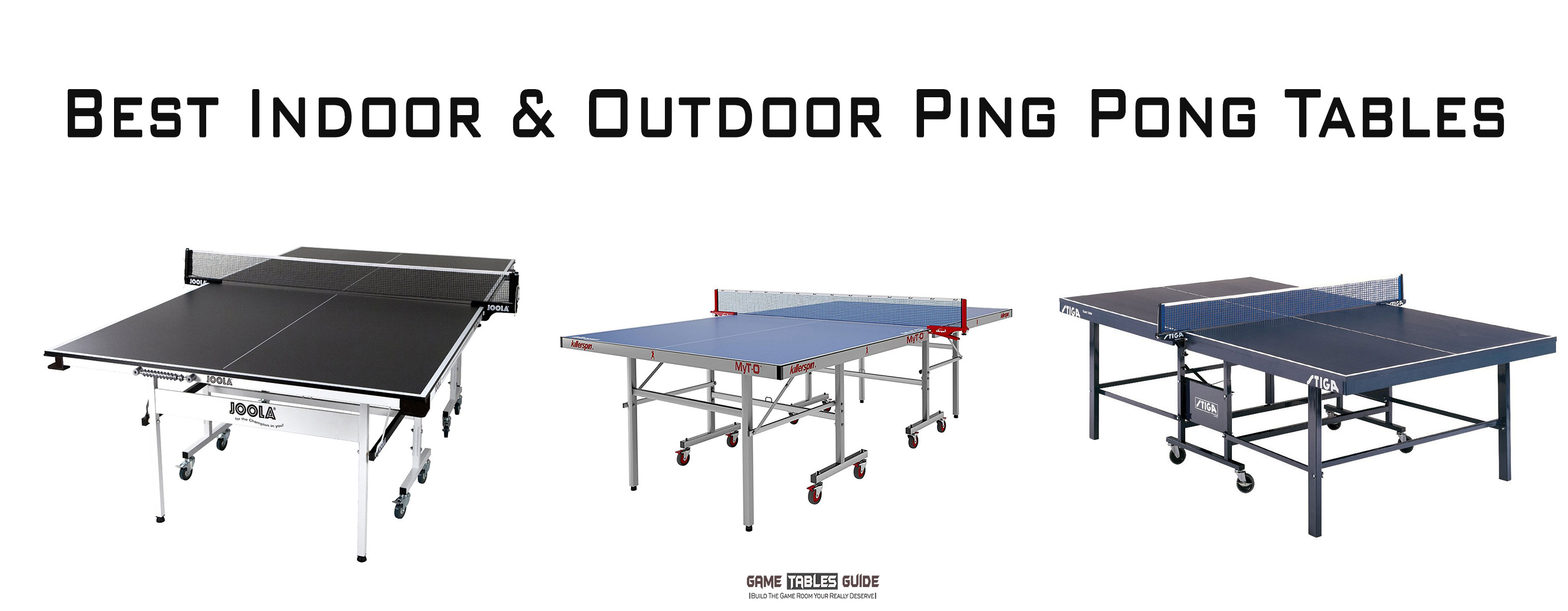 best ping pong tables in 2018 indoor outdoor tables reviews. Black Bedroom Furniture Sets. Home Design Ideas