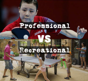 pro table tennis tables vs casual tables