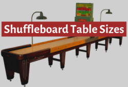 Shuffleboard Table Sizes: The Ultimate Guide