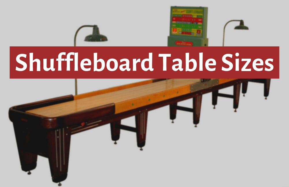 shuffleboard table sizes guide