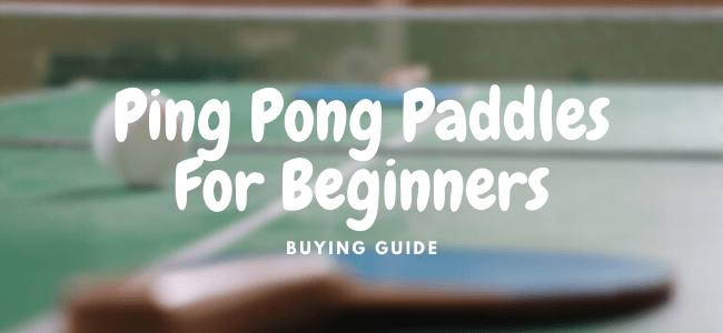 best ping pong paddles for beginners
