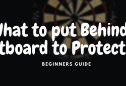 What to Put Behind a Dart Board to Protect Wall